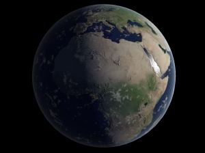 Earth rendered with WebGL